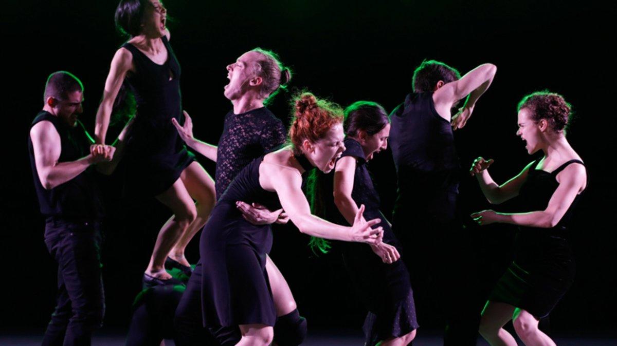 Un momento de la representación de 'Venezuela' a cargo de la Batsheva Dance Company