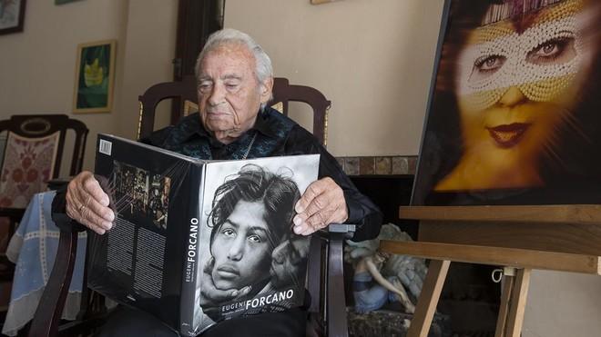Eugeni Forcano, en Canet, el día que cumplió 90 años.