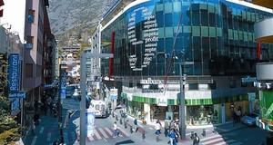 Oficines duna entitat bancària al centre dAndorra la Vella.