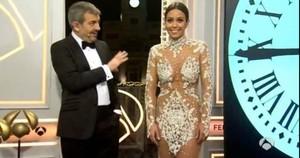 Carlos Sobera y Cristina Pedroche, en la retransmisión de Antena 3 de las campanadas del 2015.