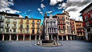 La plaza del torico de Teruel.