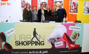 Presentación de la campaña a favior del comercio de proximidad que impulsan Sant Boi, Viladecans, Gavà, Castelldefels y El Prat para estas Navidades.
