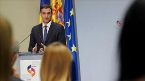 El presidente del Gobierno, Pedro Sánchez, el pasado lunes.