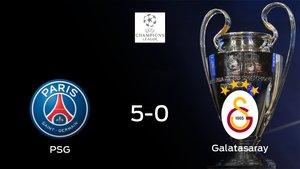 El PSG suma tres puntos tras pasar por encima al Galatasaray (5-0)
