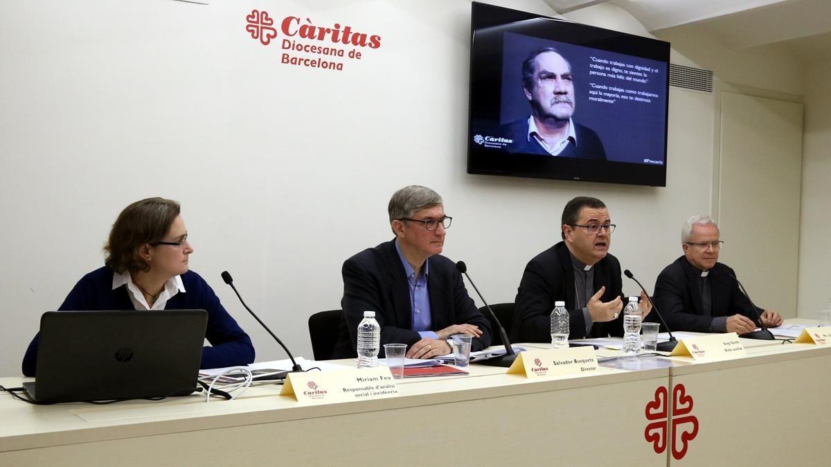 Rueda de prensa de Cáritas Diocesana de Barcelona.