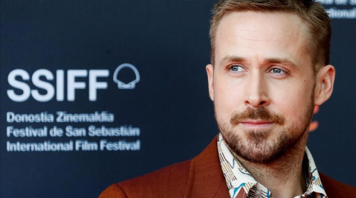 El actor canadiense Ryan Gosling, el lunes en el festival de cine de San Sebastián.
