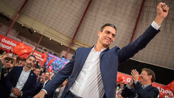 Sánchez demana un Govern «fort» davant l'independentisme i Vox