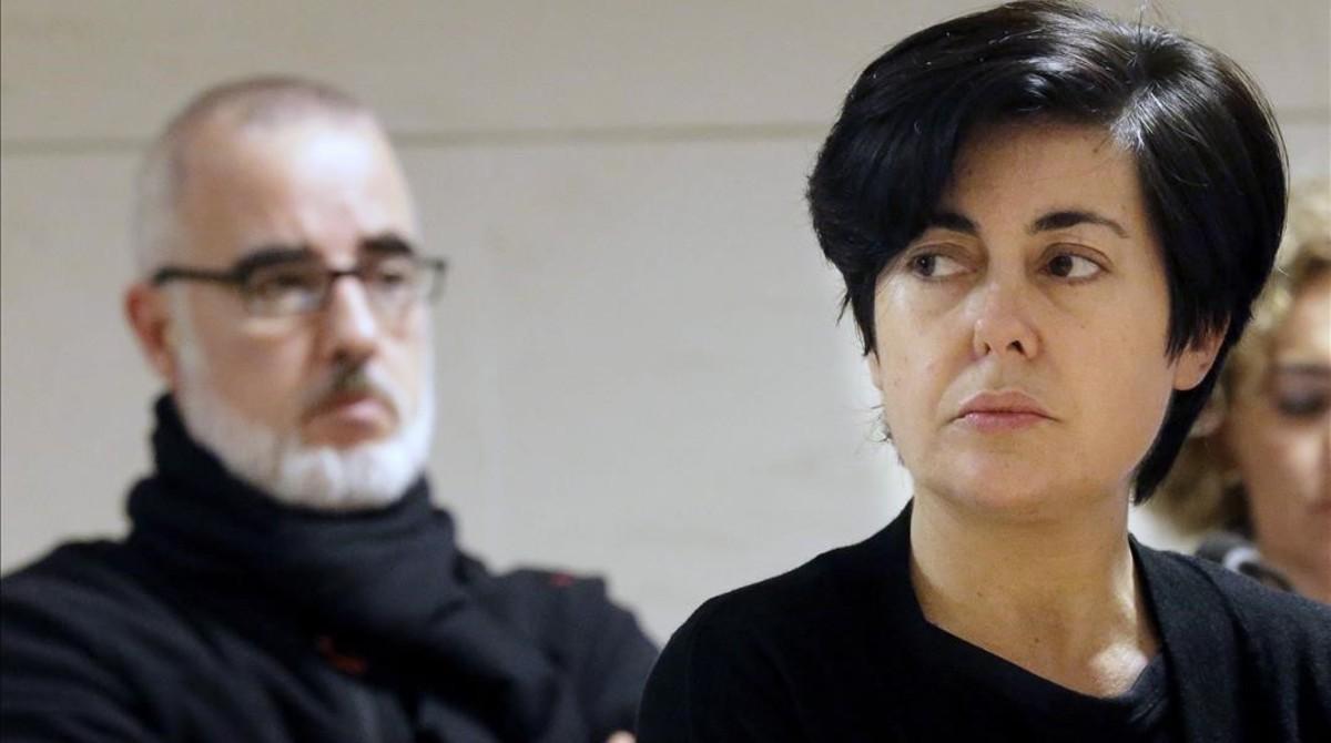 Alfonso Basterra y Rosario Porto, durante el juicio por el asesinato de su hijaAsunta.