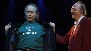 Joan Manuel Serrat y Jaume Sisa, en las fiestas de la Mercè del 2008.