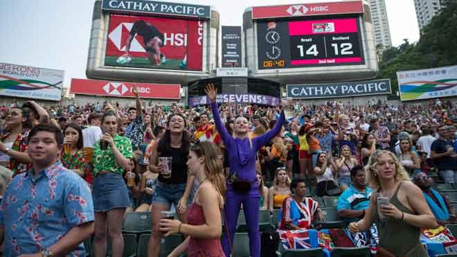 El Sevens, la fiesta del rugby, toma Hong Kong.