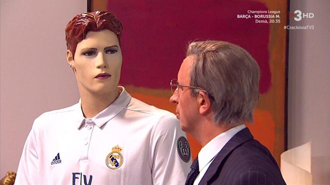 Florentino y Cristiano, intentando disimular (Crackòvia, TV-3).