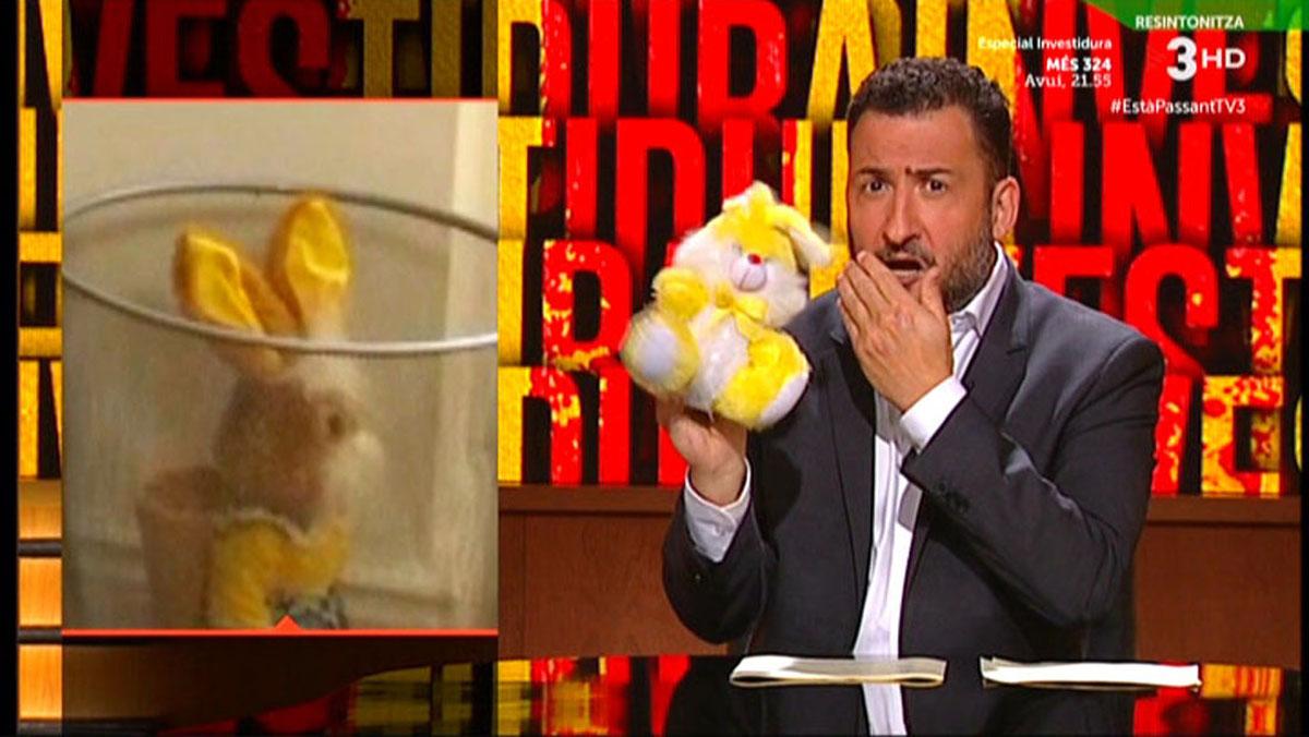 Toni Soler desveló el enigma del conejo de Puigdemont (Està passant, TV-3).