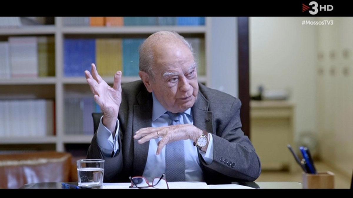 Jordi Pujol, en 'Sense ficció' (TV-3).