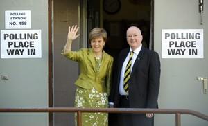 Sturgeon, tras depositar su voto en Glasgow.