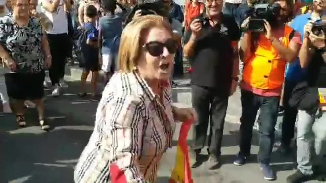 Detingut l'home que va agredir una dona per mostrar una bandera espanyola a Tarragona