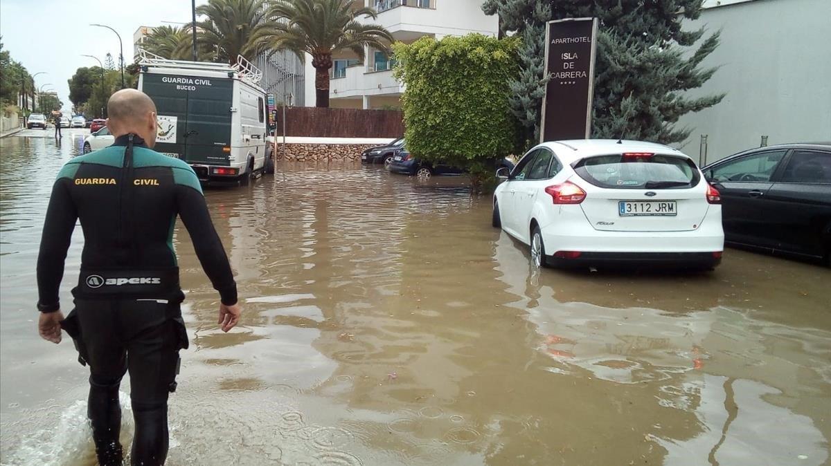 Les pluges remeten a les Balears després de provocar 148 incidents