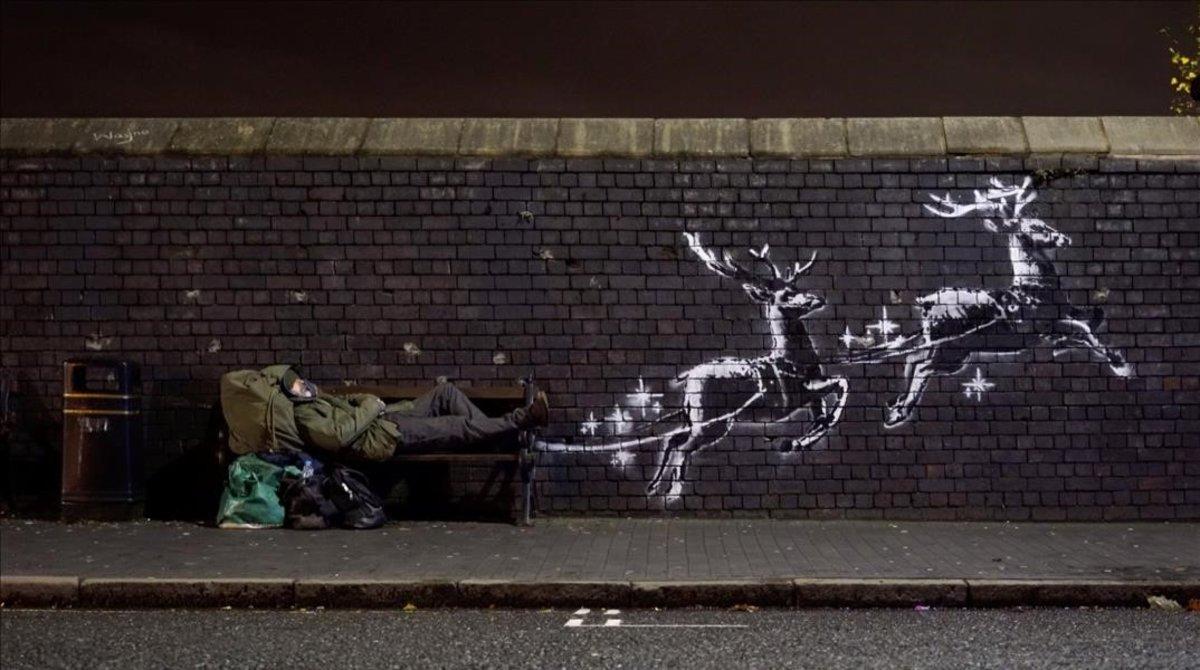 El mural nadalenc de Banksy