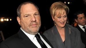 El productor Harvey Weinstein y la actriz Meryl Streep, en una entrega de premios en el 2012.