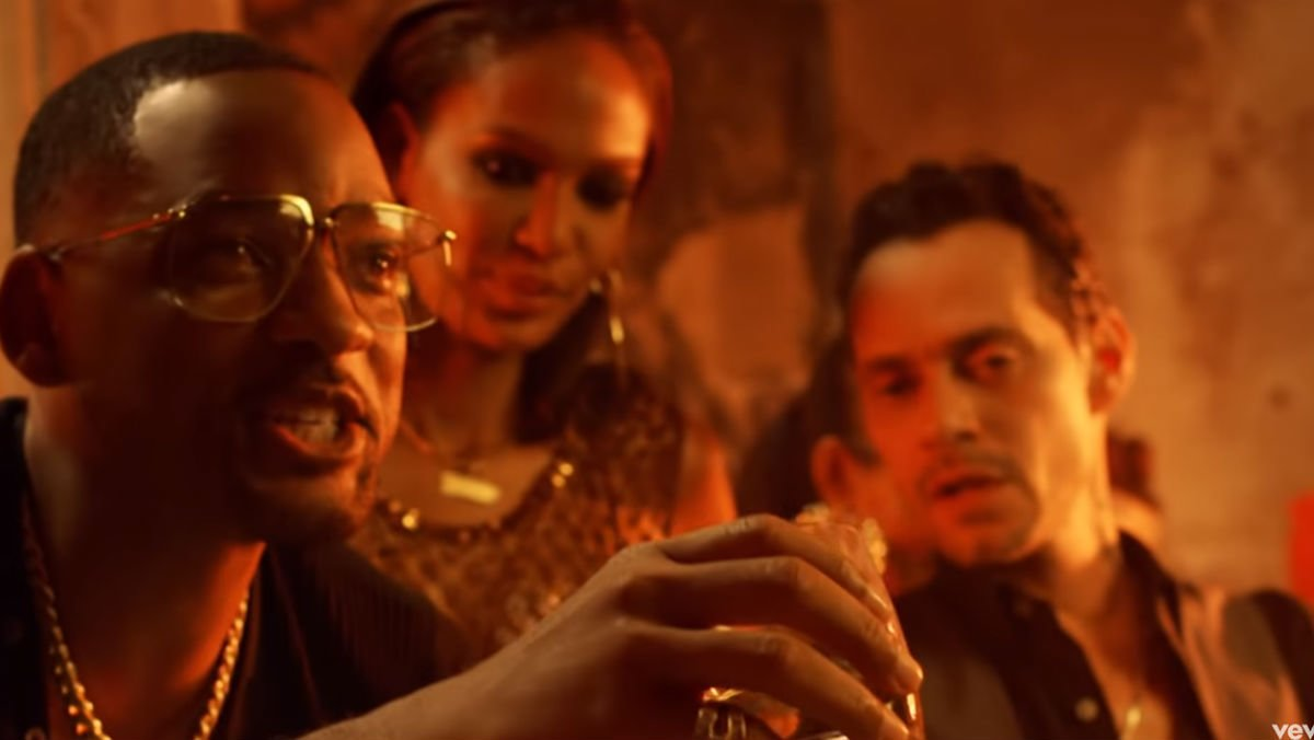 Will Smith y Marc Anthony, en el clip de 'Está rico'.