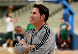 Xavi Pascual, en su primer entrenamiento cmo técnico del Panathinaikos