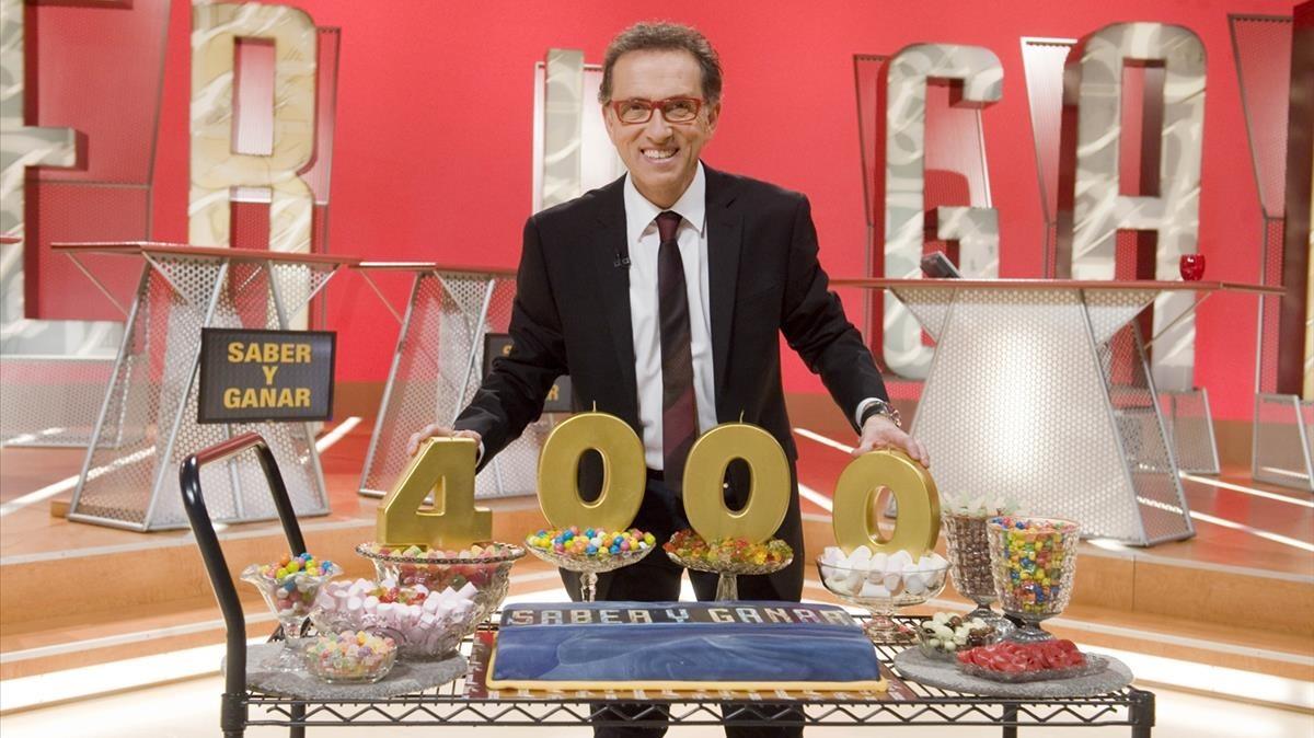Celebración del programa 4.000 de 'Saber y ganar', con Jordi Hurtado, en el 2014.