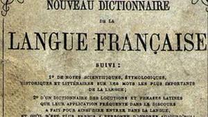 Portada del primer diccionario Larousse, de 1858.