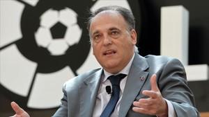 """Tebas: """"Si el procés independentista avança els clubs catalans no podrien jugar la Lliga"""""""