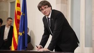 Puigdemont proposa una fórmula per nomenar un mediador
