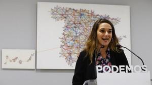 La coportavoz del Consejo de Coordinación de Podemos, Noelia Vera.