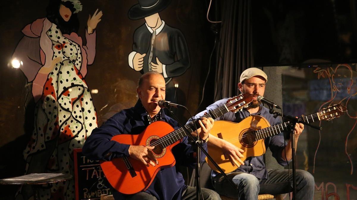 Peret Reyes y Víctor del Río, en Tío Carlos.