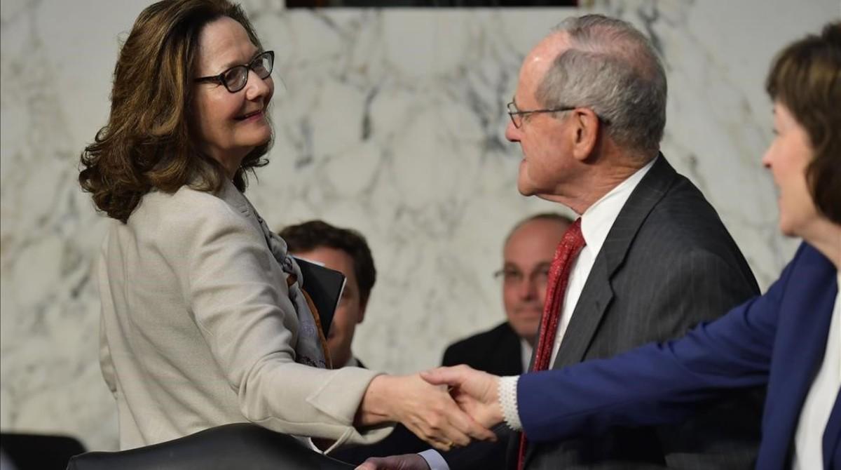 Gina Haspel a su llegada al Comité de Inteligencia del Senado.