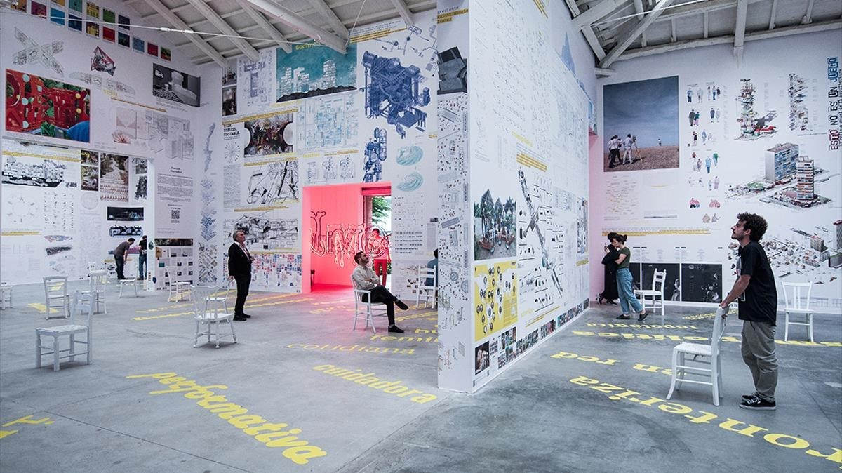 El pabellón de España en la Bienal de Venecia.