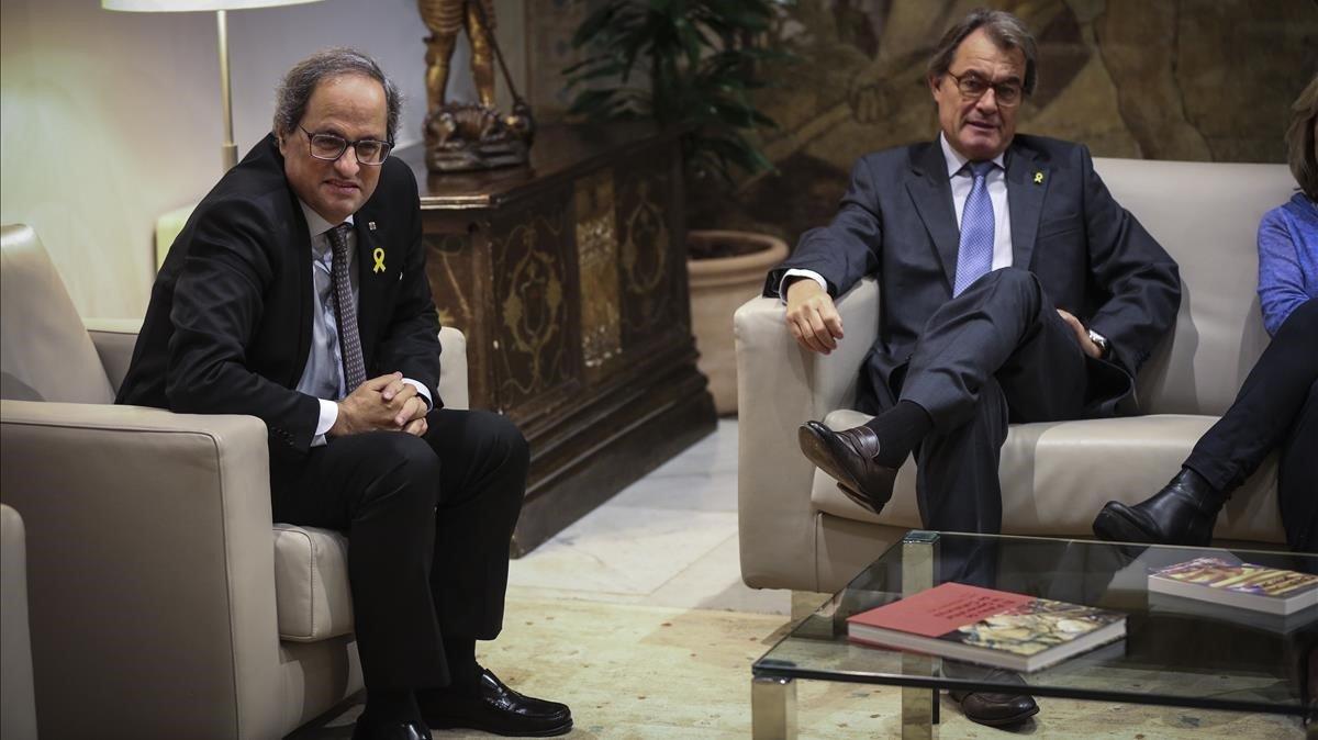 Quim Torra y Artur Mas.
