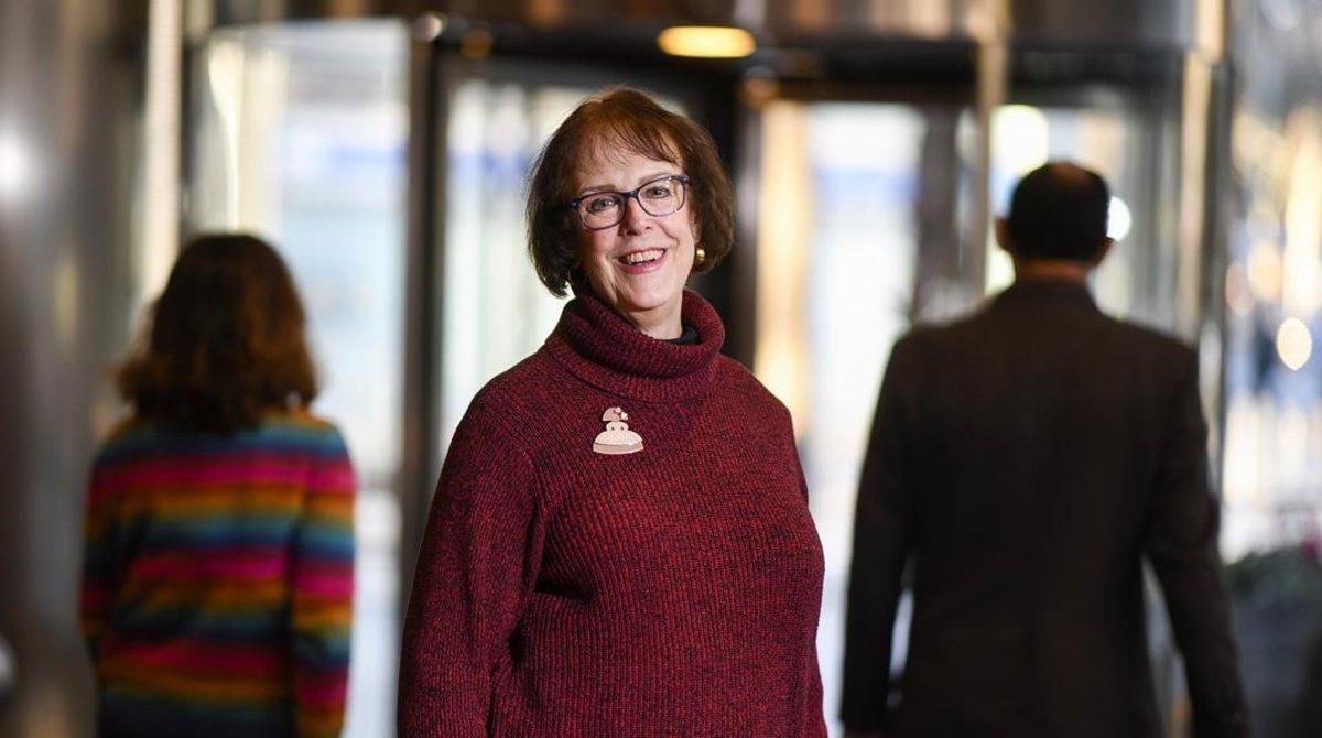 Janet Hyde, durantesuvisitaa Barcelona como asesora para un nuevo proyecto de la Universitat Oberta de Catalunya