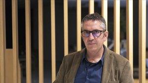 Manuel Baixauli, este lunes en Barcelona.