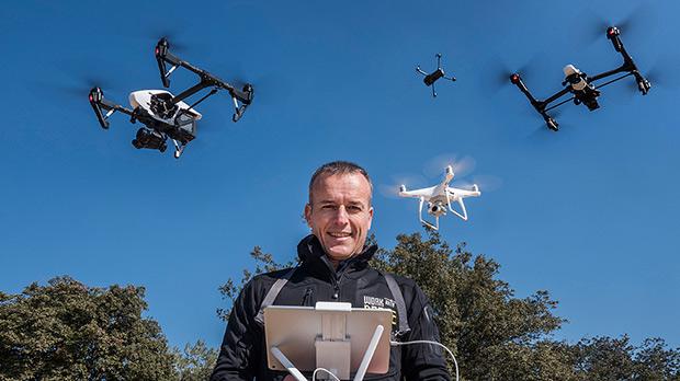 Josep Mª Romero, piloto de drones