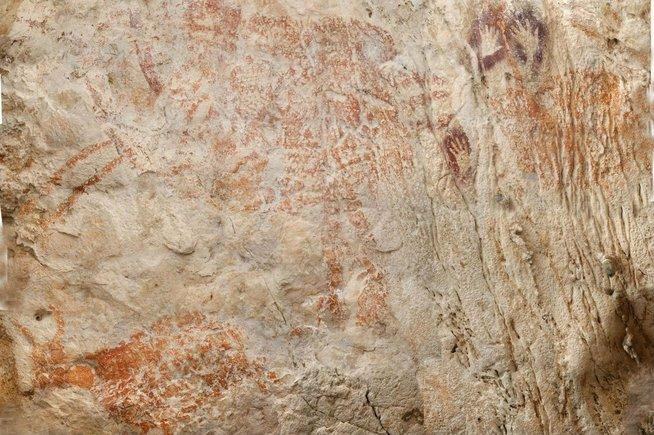 Encontraron la pintura figurativa más antigua de la humanidad