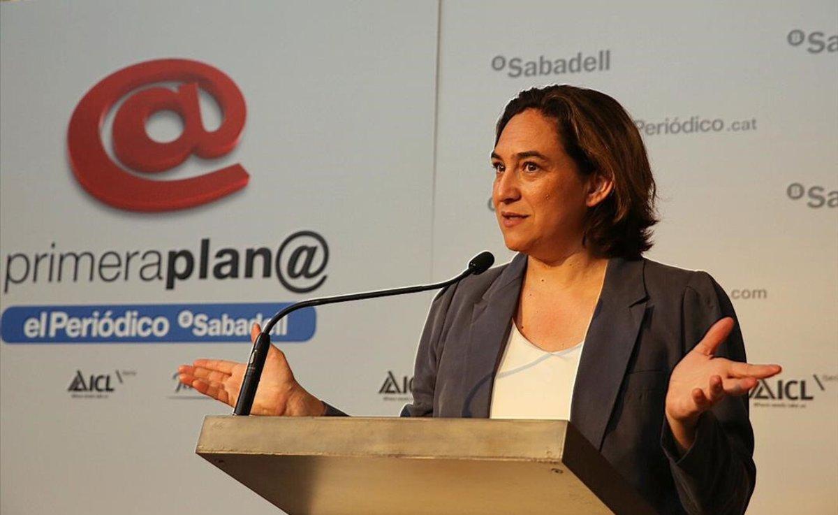 Ada Colau en el foro de debate Primera Plana.