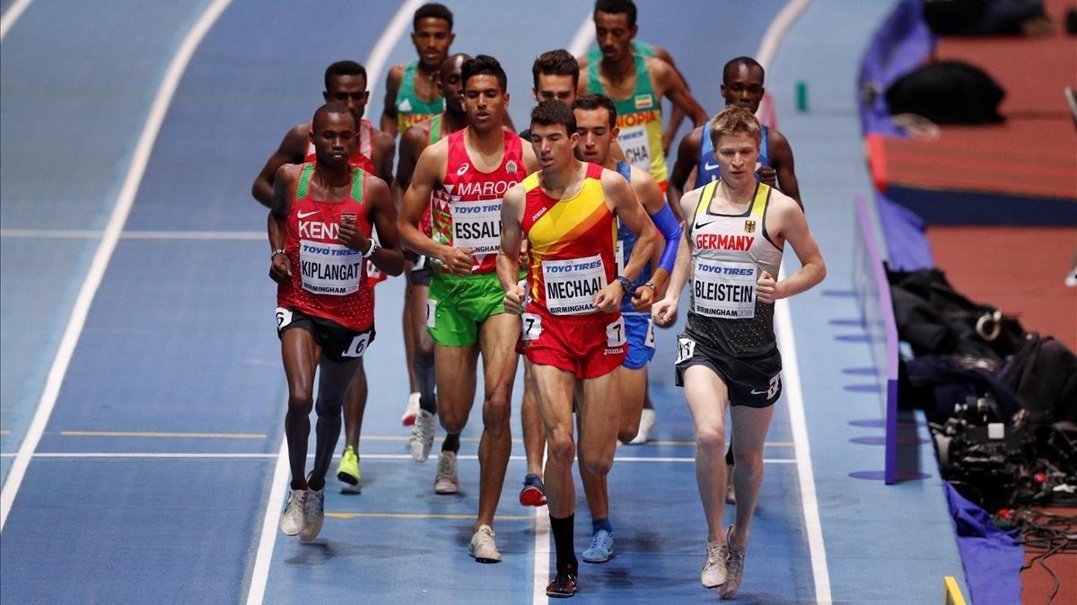 Adel Mechaal, en la final de 3.000 metros en Birmingham.