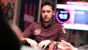 Adrián Mateos, en un torneo de póker.