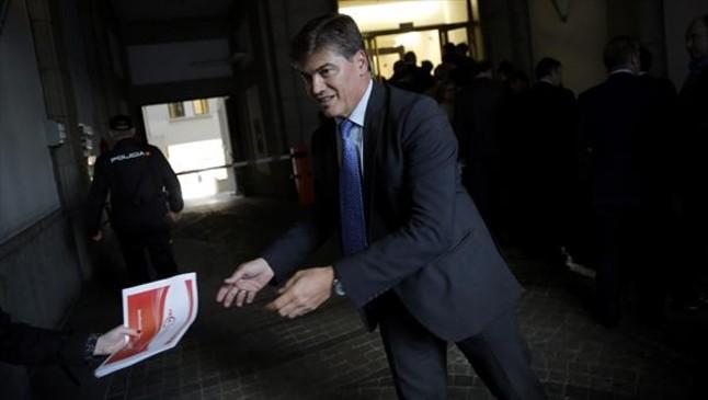 Antoni Cañete, presidente de la Plataforma de Morosidad, ayer.