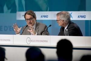 Artur Mas y Anton Costas en la inauguración del Cercle dEconomia el pasado febrero.