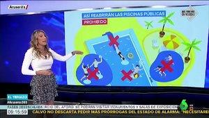 """El lapsus de una periodista de 'Aruser@s' al hablar de las piscinas: """"Prohibido correrse"""""""