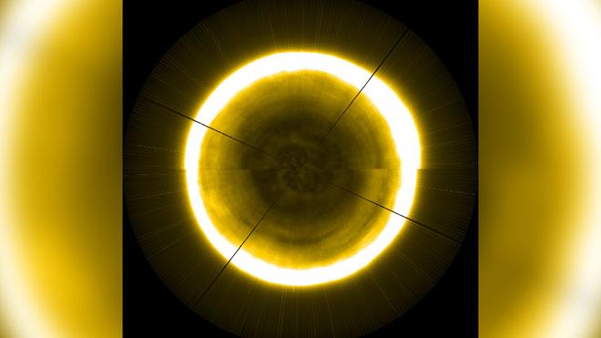 Así es el polo norte del Sol.