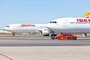 Aviones de Iberia en una imagen de archivo.