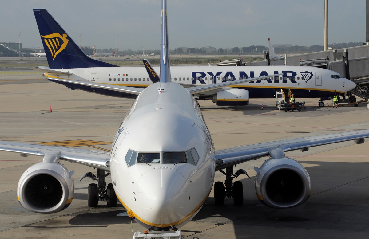 Aviones de Ryanair en Barcelona.