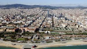 Vista panorámica de Barcelona.