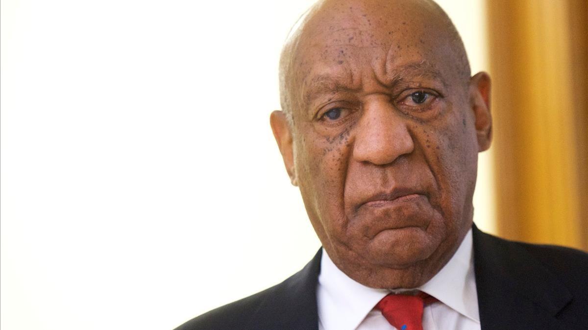El actor Bill Cosby, momentos después de conocer la sentencia.