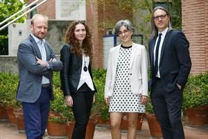 PACTO. Zaraboco y Segarra, con Sara Secall (Inveready) y Àlex Casta (Caixa Capital Risc)
