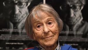 Brunhilde Pomsel, que fue secretaria en el Ministerio de Propaganda de Goebbels, en junio del 2016.